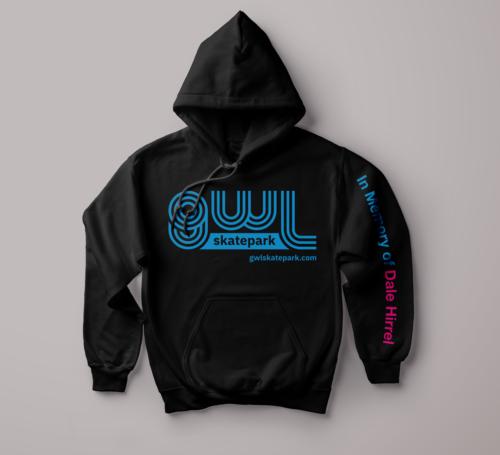 GWL Skatepark branded hoodies, fundraiser,