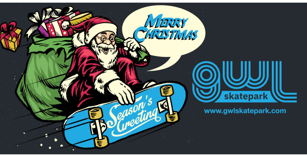 GWL Skatepark Corp. in Greenwood Lake NY wishes all of our friends and followers a Merry Christmas and Season's Greetings