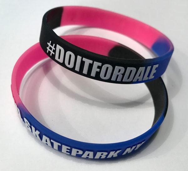GWL Skatepark branded wristbands, fundraiser,