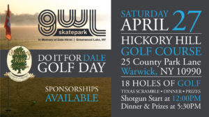 GWLSkatePark fundraising event, Do It For Dale Golf Day, Hickory Hill Golf Course, Warwick NY