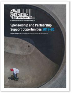 GWL Skatepark, Greenwood Lake NY, Do It For Dale Hirrel, Sponsorship Deck, Fundraising