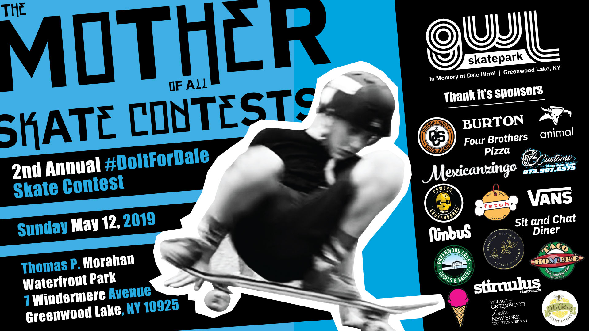 GWLSkatePark Skate Contest, Do It For Dale Skate Contest, Thomas P. Morahan Waterfront Park, Greenwood Lake NY
