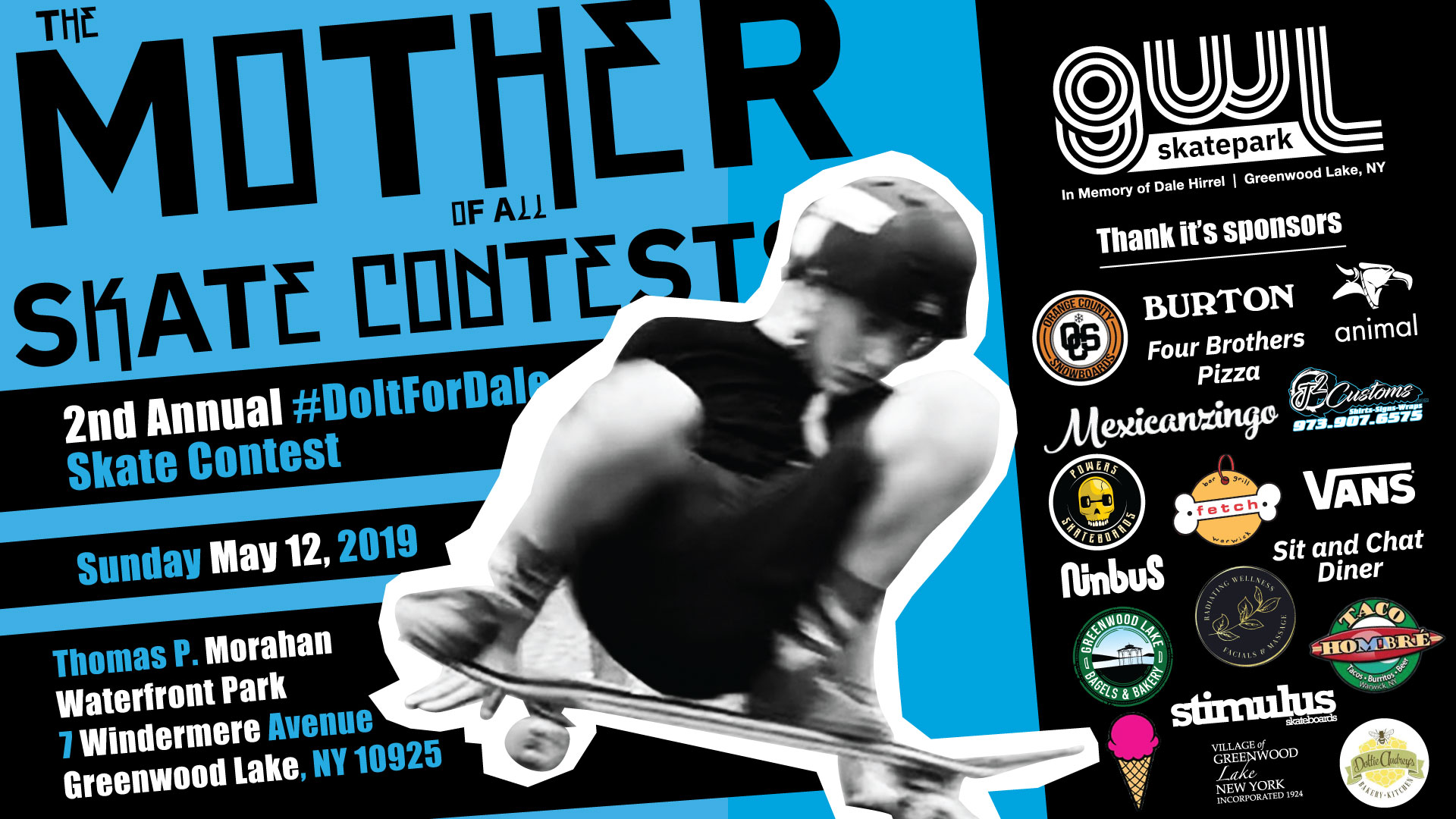 GWLSkatePark Skate Contest, Do It For Dale Skate Contest, Thomas P. Morahan Waterfront Park, Greenwood Lake NY