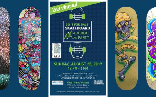 GWLSkatePark fundraising event, 2nd Annual Skateboard Art Auction and Party, fundraiser, Greenwood Lake Community Center, Greenwood Lake, NY