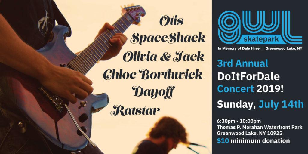 GWLSkatepark fundraising event, 3rd Annual DoItForDale Summer Concert