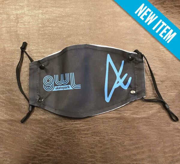 GWL Skatepark Corp. fundraiser, facemask, black, In Memory of Dale HIrrel