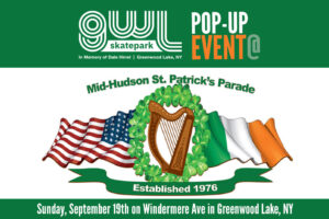 Pop-up event, St. Patrick's Day Parade, 2021, GWL Skatepark, Fundraiser, Greenwood Lake Bagels & Bakery, Greenwood Lake, NY,